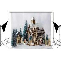 Kate Açık Noel Fotoğrafçılık Arka Noel Baba Fotoğraf Backdrop Evi Çocuk Merry Christmas Backdrop
