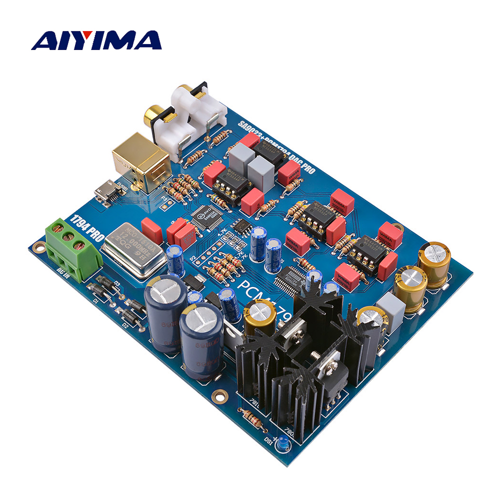 Amplifier Special Section Aiyima Sa9023+pcm1794 Decoder Board Dac Audio Decoding Usb Rca Input Diy For Power Home Audio Amplifiers Headphone Amplifier Exquisite Craftsmanship; Back To Search Resultsconsumer Electronics