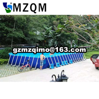 Popular Giant PVC 0.9mm 0.7mm inflatable stents pool, water walking ball pool with slide