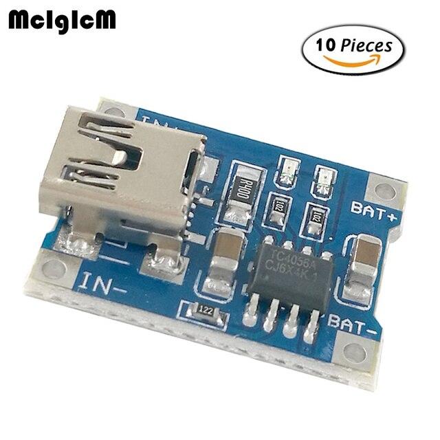 MCIGICM 10 pcs литиевая Батарея Зарядное устройство совета Модуль Мини 5 v USB 1A литий-ионный Батарея Зарядное устройство TP4056 горячая распродажа