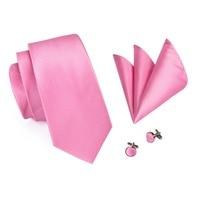 SN-401 New Style Solid Tie Men's 100% Jacquard Woven Neckties Handkerchief Cufflinks Set for Men's Formal Wedding Party Groom 2