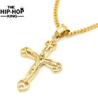 60 cm Oro Gesù Cristo Croce Pendenti Collana Lunga Per Gli Uomini E Le Donne Hip Hop Gioielli Christian
