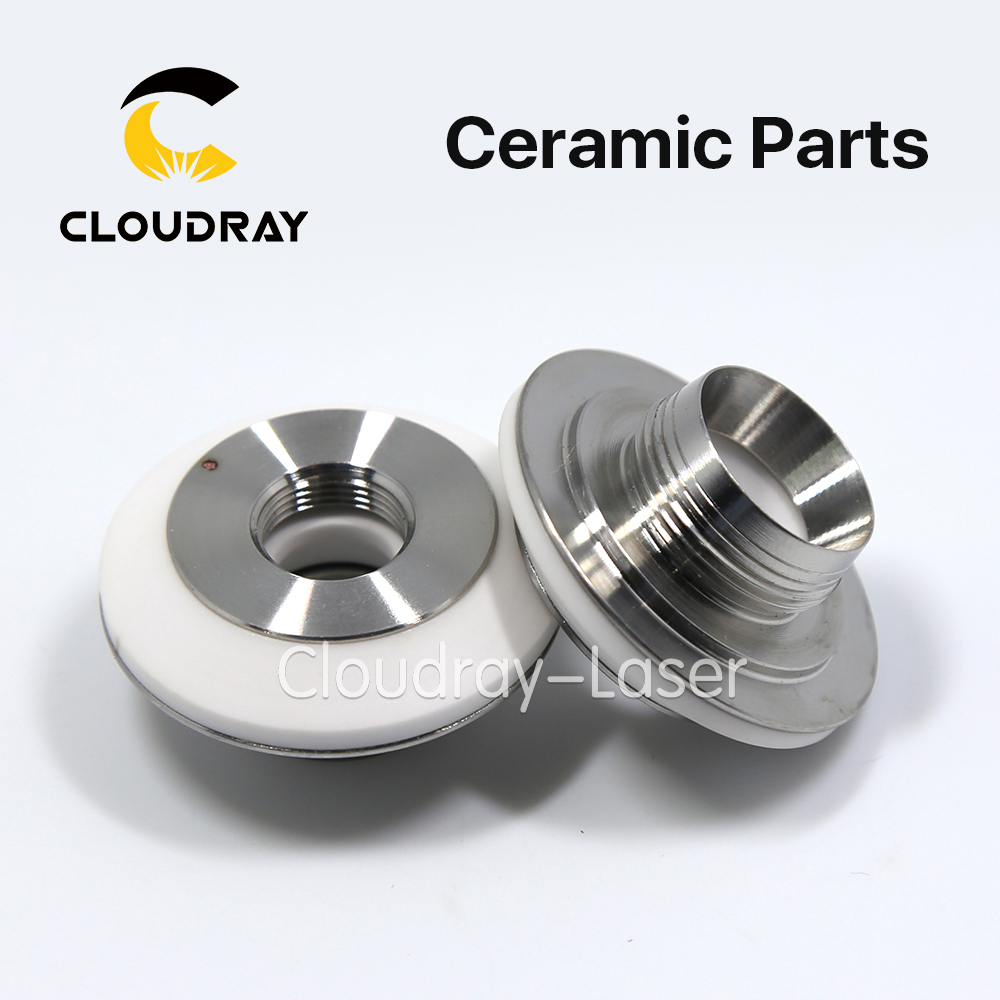 Cloudray Laser Ceramic Nozzle Holder Diameter 34.5mm Height 16.7mm For Fiber Laser Cutting Head Free Shipping цена