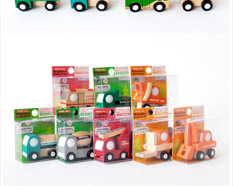 12pcslot Wooden Car Educational Toys Baby Kids Boy Toys Wheel Rotatable Cars Models Toys Simulate Mini Automobiles for Children (5)