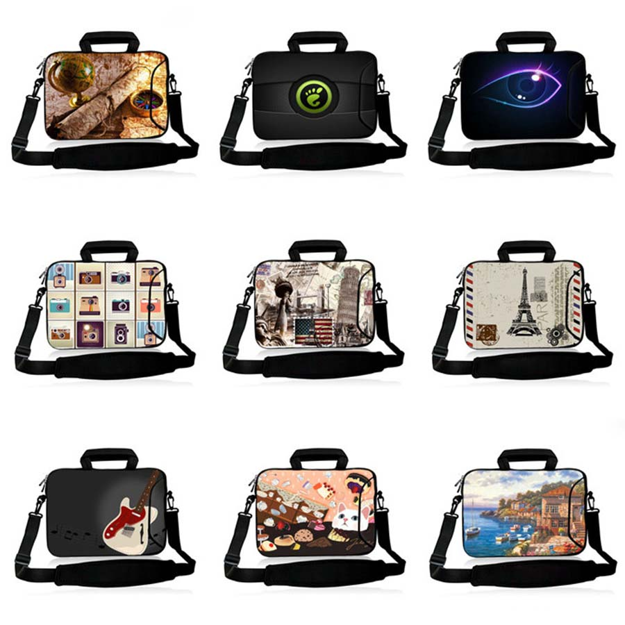 Laptop shoulder bag 17 3 17 15 6 15 14 13 13 3 11 6 10 inch airbag computer handbag fashion PC Messenger notebook case SB 3184 in Laptop Bags Cases from Computer Office