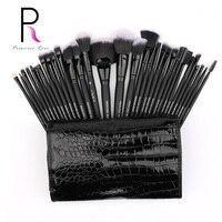 Princess Rose Brand 32pcs Professional Full Make Up Kit Makeup Brushes Set Bag For Foundation Blush