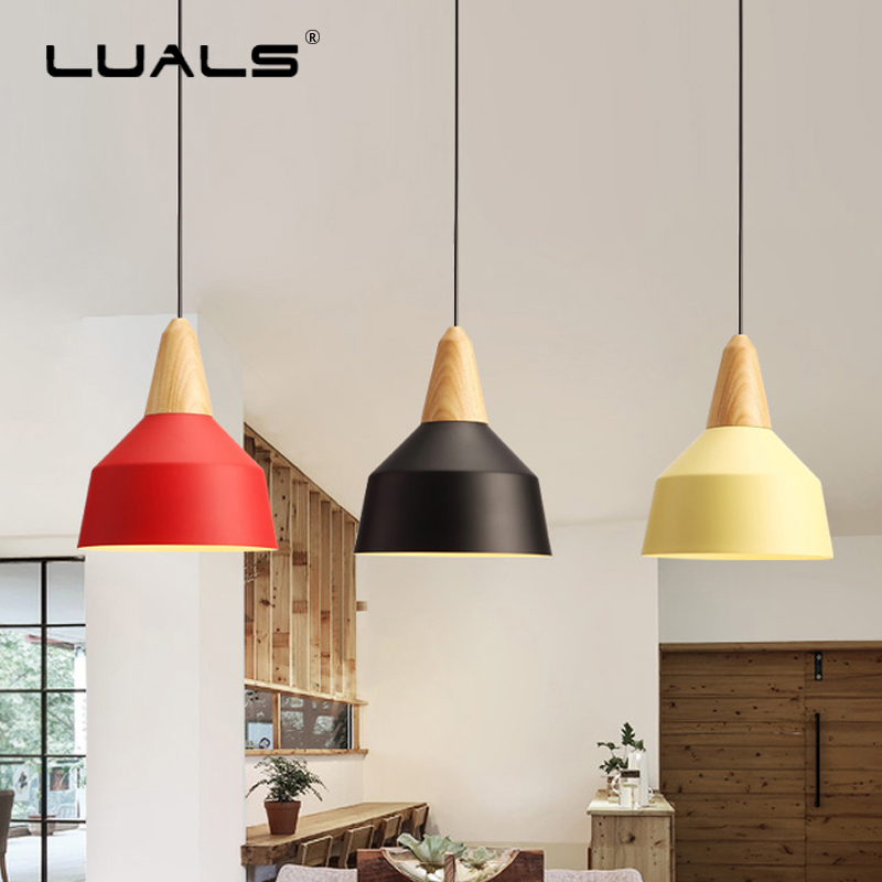 Nordic Pendant Lights Wood Suspension Luminaire Modern Led Pendant Light Iron Lamp Shade Light Fixtures Art Deco Hanging Lamps nordic wood pendant light modern led suspension warm luminaire hanging lamp lamparas colgantes light shade for parlor restaurant