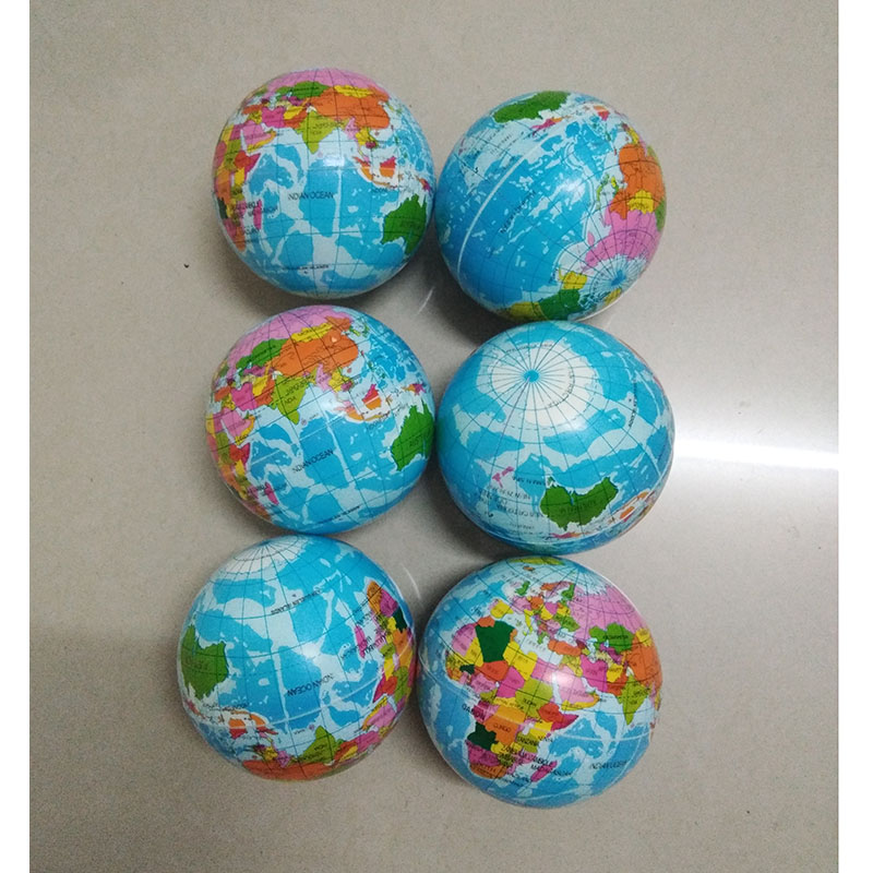 Anti Stress ball Relief World Map Foam Ball Atlas Globe Palm Ball Planet Earth Toys for Chrildren Girls Boys 100mm 12pcs