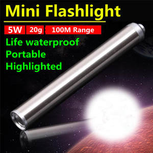 2018 Mini LED Flashlight Pocket Tactical Flashlight Torch 5W LED Pen Light