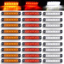 Красный цвет: желтый, белый синий green12/24 В 6 Автомобильный светодиодный SMD легковой автомобиль автобус грузовик грузовой автомобиль боковой маркер светодиодный трейлерный светильник задняя сторона лампы