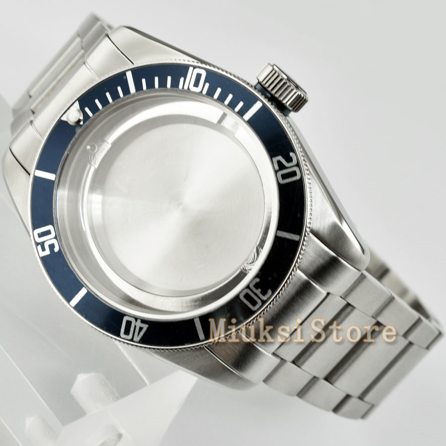 41mm Stainless Steel Watch Case Fit ETA 2836 Miyota 8205 8215 821A Mingzhu DG 2813 3804