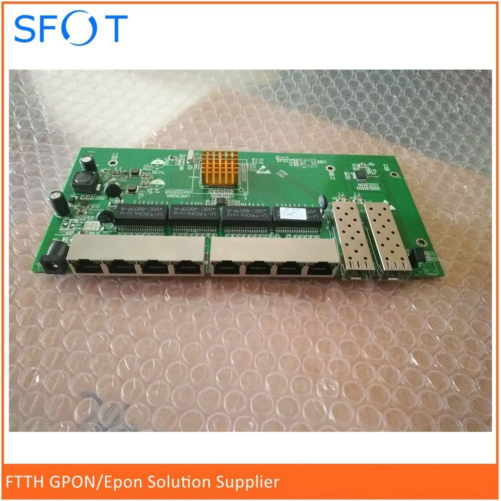POE Reverse Switch Board, 8 Port Full Gigabit Without WEB Managed Ethernet Reverse Poe Switch With 2 SFP Ports
