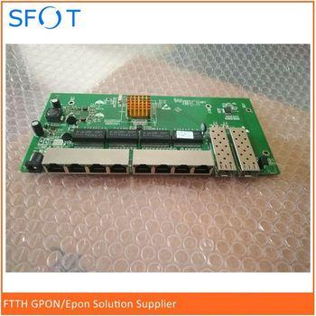 POE reverse Switch board, 8 port Full Gigabit without WEB Managed Ethernet reverse poe switch with 2 SFP ports 24 ports poe switch with 4 gigabit sfp combo 24 poe 4 sfp fiber ports gigbit poe ethernet network switch 1000mbps rackmount