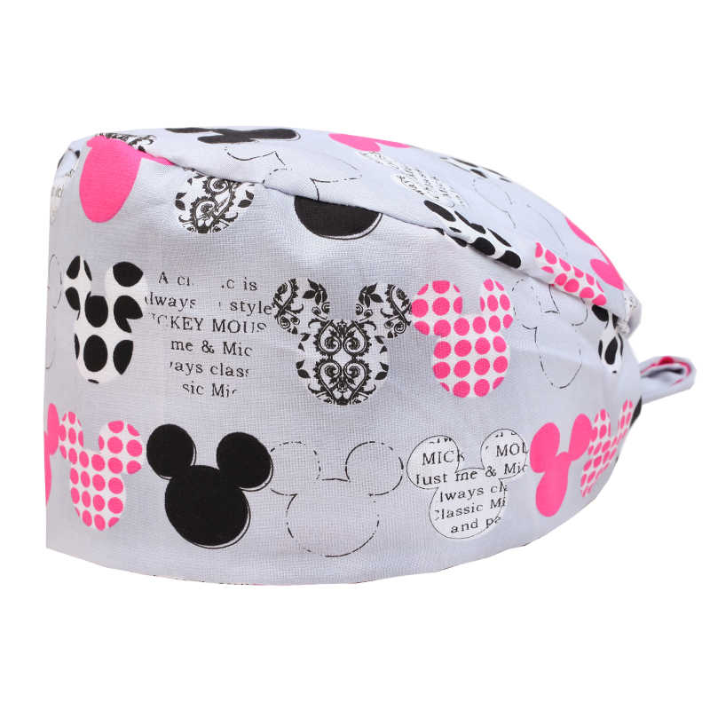 3ff25f83711a3 Women Surgeon s Caps Skull Caps Medical Operating Room Accessory Micky  Mouse Pint Grey Pixte Scrubs Cap