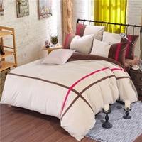 Fashion Quality winter Bedding Set Queen King Size Fleece fabric thick Duvet Cover Bedsheet Pillowcase 4pcs