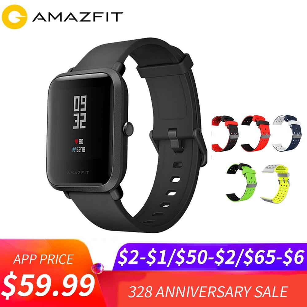 Xiaomi Amazfit Bip Sport montre connectée Huami GPS Smartwatch [Anglais Version] Bluetooth4.0 GPS moniteur de fréquence cardiaque 45 Jours Veille