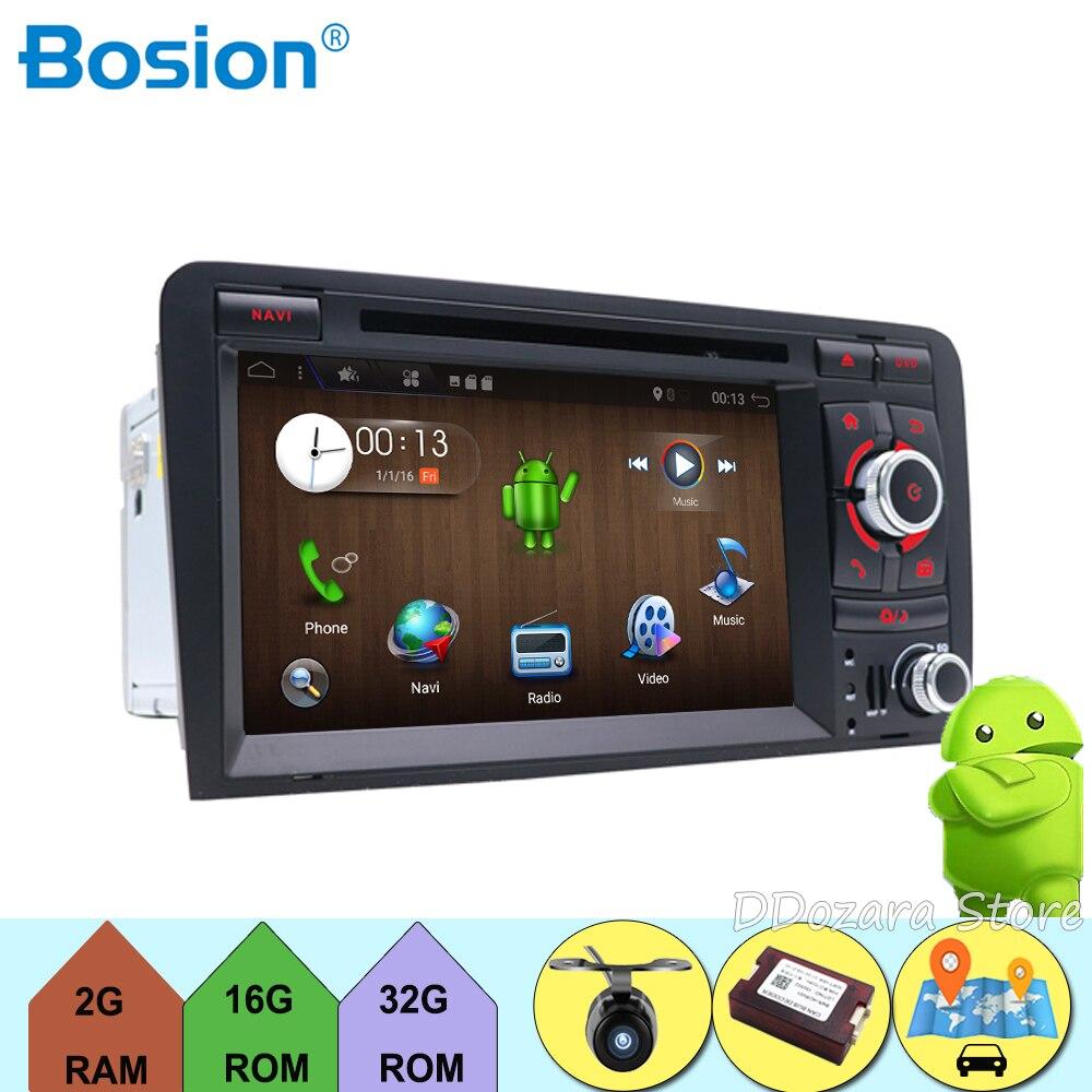 Android 7.1 Quad Core 7 pouce Au Tableau de Bord Voiture Lecteur DVD Pour Audi A3 2002-2011 Avec Canbus Wifi GPS Navigation BT Radio Carte Gratuite