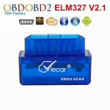 Новейшие viecar мини v2.1 elm327 bluetooth elm 327 obd2 obdii can-bus диагностический инструмент нескольких языков бесплатная доставка
