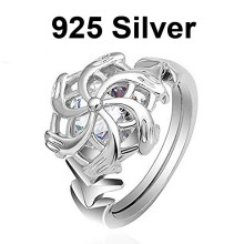 925 Sterling Silver The Lord Of Rings Nenya Galadriel Ring of Water LOTR Elf Rings Great Rings Hobbit Women Jewelry Fan Gift