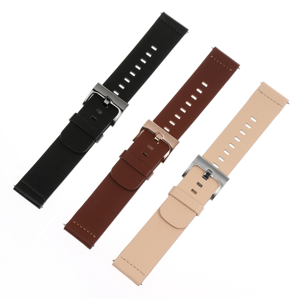 Replacement Genuine Leather Wrist Watchband strap for MOTO 360 2nd Smart Watch Men's 42mm/46mm Women's 42mm for Pebble Watch kimisohand classic fashion genuine leather watch band strap for motorola moto 360 2nd 42mm