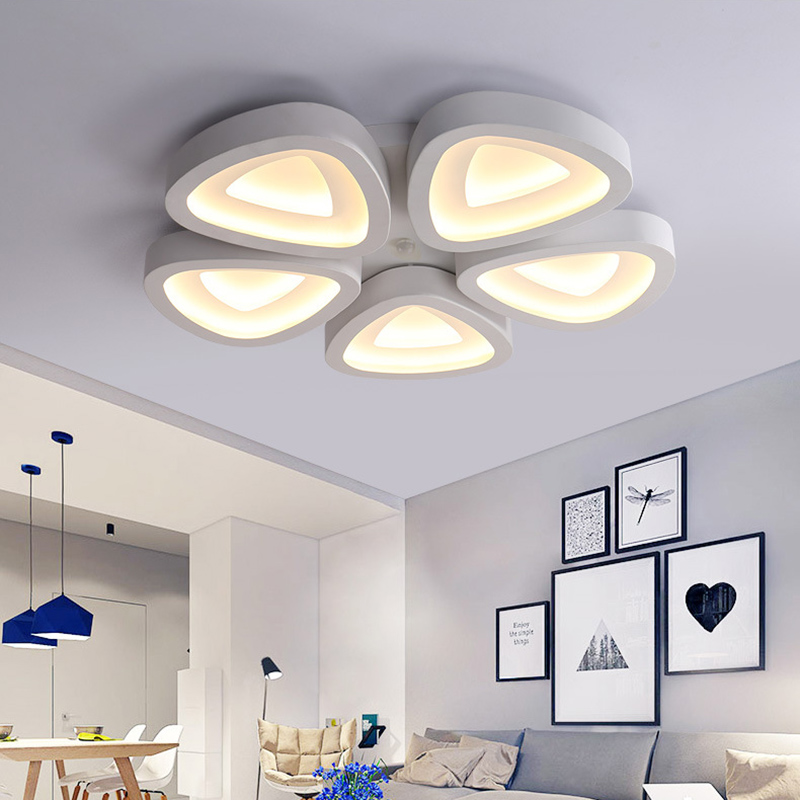 Modern Led Ceiling Lights Lampshade White Living Room Foyer Fixtures Bedroom Lamp Kitchen Plafonnier Luminarias Lighting Lights & Lighting Ceiling Lights