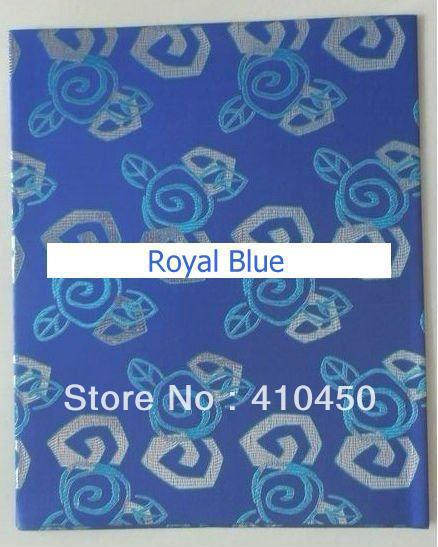 [Express Free Shipping]5bags/lot Retail Lilac/Royal Blue Beautiful Modern African Gele Head Tie Headscarf Fabrics HT015