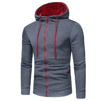 2017 Fashion Brand Hoodies Men Sweatshirt Male Zipper Hooded Jacket Casual Sportswear Moleton Masculino Men Hoodie