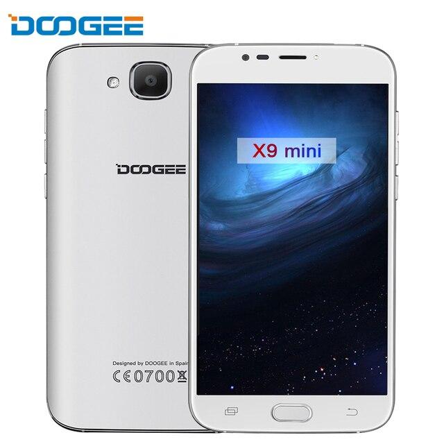 DOOGEE X9 mini 5.0 inch  Smartphone MTK6580 Quad Core Android 6.0 HD Screen 1GB RAM 8GB ROM Dual SIM 3G WCDMA Cell Phone