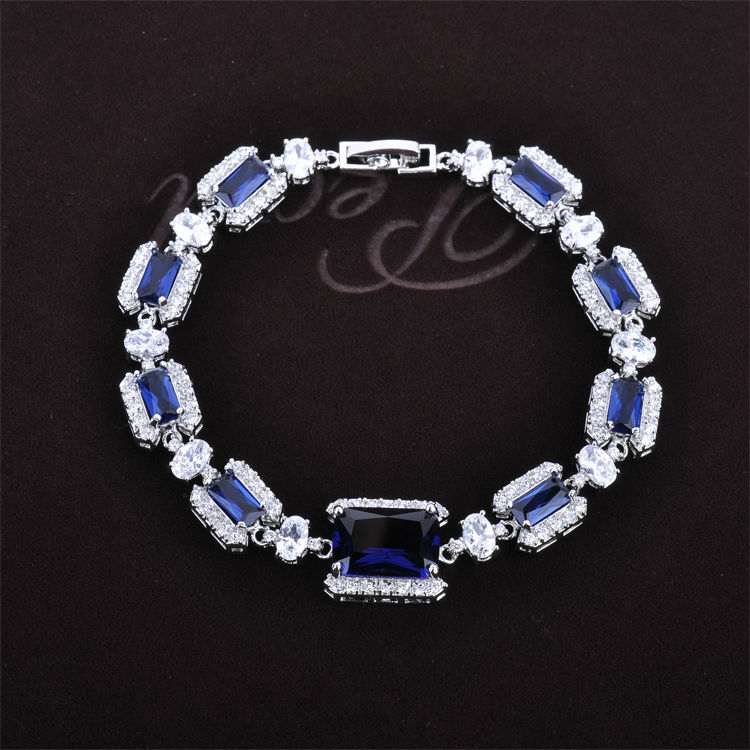 Free Shipping Fashion Bracelets for Women Gold/Silver Plated Element Austrian Crystal Bracelet Wedding Engagement Jewelry S0246
