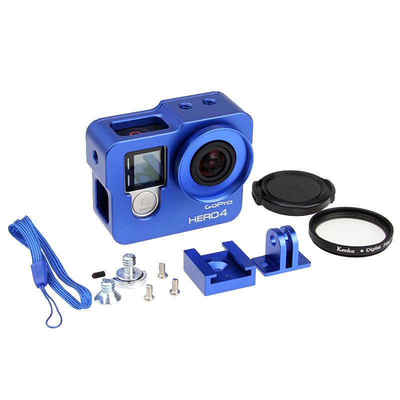 Hot Go pro Hero 4 3+ Camera Accessory, Aluminium Metal Housing Frame - Camera and Photo
