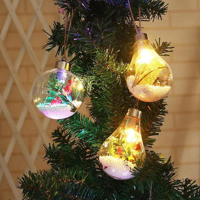 Creative Christmas Tree Rope Hanging LED Light Bulb Lamp Outdoor Home  Bedroom Garden Courtyard Decorative Night - Creative Christmas Tree Rope Hanging LED Light Bulb Lamp Outdoor