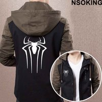 New Spring Autumn Spider Man Hoodie Fashion Anime Cool Coat Men Zipper Jacket