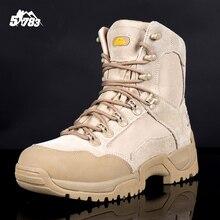 Militar Tático Botas de Combate Do Deserto Do Exército Ao Ar Livre Viagem Caminhadas Homens Botas botas de inverno Botas Sapatos de Couro No Tornozelo Outono(China (Mainland))