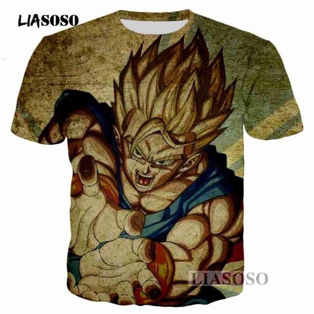 LIASOSO Anime Dragon Ball Z Bulma Sexy beleza Impressão Camisetas moda  Harajuku Das Mulheres Dos Homens 97edf3d60ab