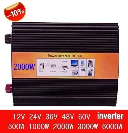 4000w peak 2000w inverseur sinusoidale pure 12V 24V 48V 2000w inverter 2kw pure sine wave, off grid tie, solar home inverter