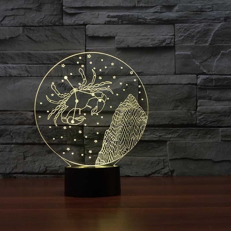 cheap 3D table Cancer moulding lampada Acrylic Entertainment illusion LED Lamp USB desk childrens night light