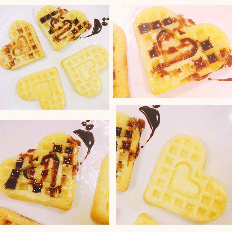 4-Hold Heart Shape Waffle Mold Food Grade Silicone Muffin Cake Waffle Mold Cake Decorating Tools Kitchen Tools P