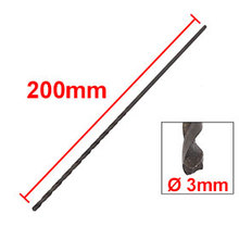 Uxcell 2018 New Arrival 1PCS Black  3x200mm HSS High Speed Steel Twist Drill Bit Quality Electric Tools