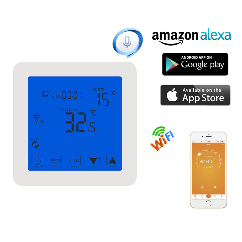 Programmable Electric Heating Temperature Regulator APP Controls WIFI Thermostat with Kid Lock