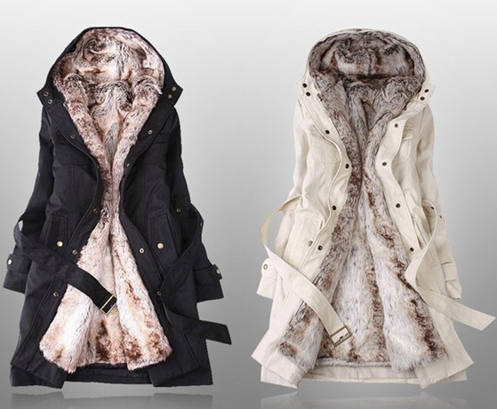 2018 Winter Women's Wool Liner Trench Coat Outerwear Slim Thickening Large Size XXXL Winter Warm fur Snow Overcoat Female