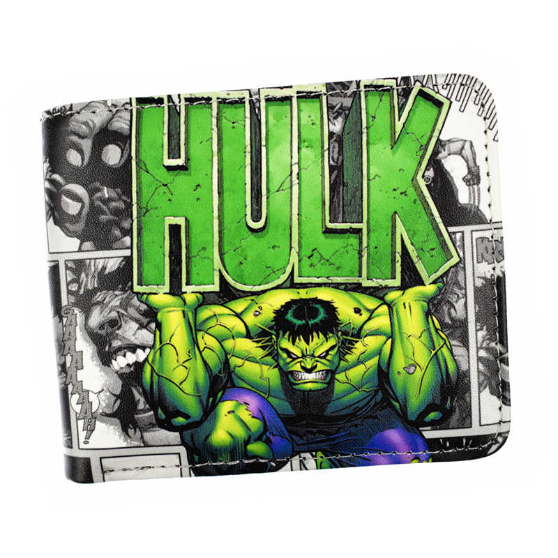 New Arrival Short Wallet Marvel Hulk Punisher X-Man Guardians of The Galaxy Wallets for Young BI-FOLD