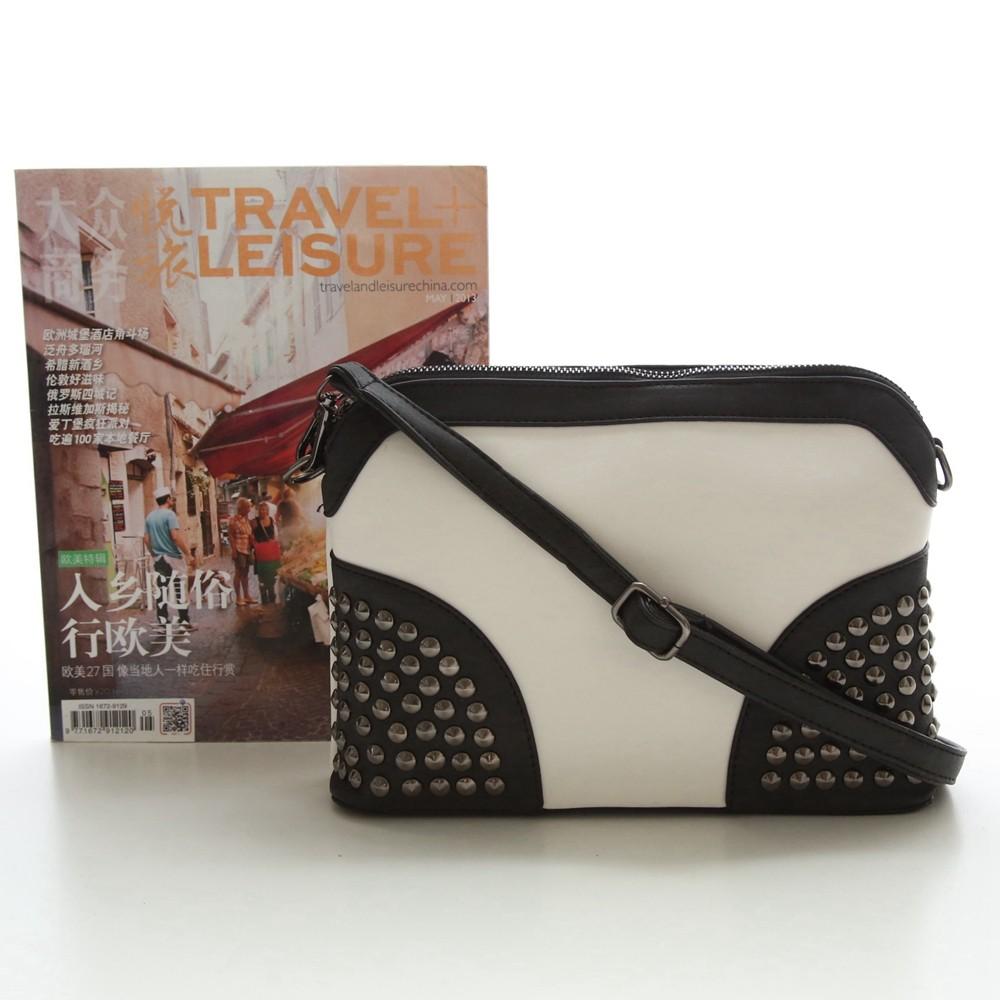 Rivet Shoulder Women Bag Vintage Scrub Shell Messenger Bags Chain Strap Crossbody Bag Clutch Bolsa Feminina Herald Fashion Brand (7)