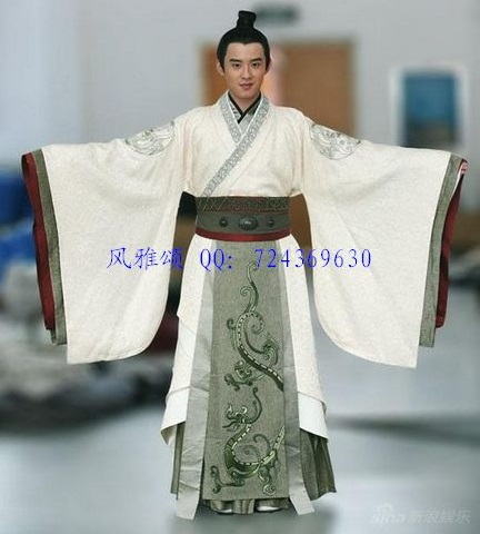 Costume masculin hanfu de haute qualité Costume de l'empereur - Vêtements nationaux - Photo 4