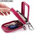 Genuine Leather Men Women Car Key Holder Case Car Key Chain  Keys Organizer Women Keychain Covers Key Case Pouch