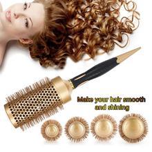 1 piezas ronda peine del pelo de peluquería de Curling cepillos de pelo de hierro  cerámica del pelo del cepillo del peine anión . 8a5d2715e007