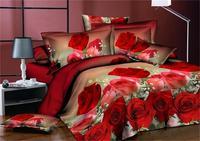 BEST.WENSD New bedsheet king size quilt cover set bedding set kids full queen size 3d bedclothing comforter bedding sets flower