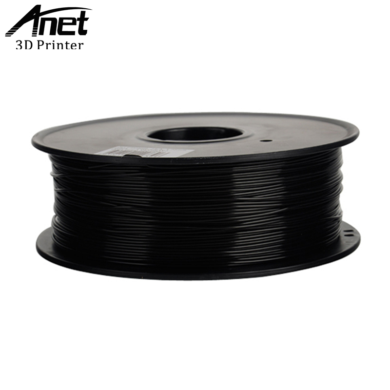 Anet PLA Plastic For 3D Printer ABS Plastic 1.75mm 1KG 340M 3D Printing Material Quality Black White Rubber Consumable Filament anet 340m 1 75mm pla 3d printing filament for 3d printer
