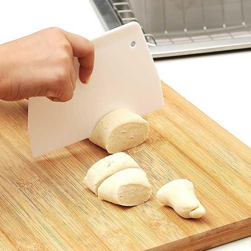 ขายร้อน! มีดโกนพลาสติกยอดนิยม Pastry เครื่องตัดแป้ง Dough พลาสติกเบเกอรี่เค้กตกแต่งเครื่องมือห้องครัว