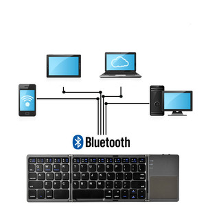 Image 2 - jincomso Portable Folding Wireless keyboard bluetooth Rechargeable BT Touchpad Keypad for IOS/Android/Windows ipad Tablet