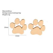 Fashion Copper Stud Earrings in Shape Paw